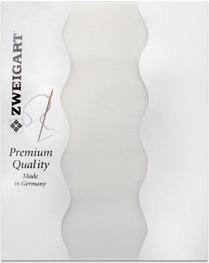 "Канва для вышивания Zweigart ""Lugana 25"", цвет: молочный, 50 х 70 см. 3835/101"