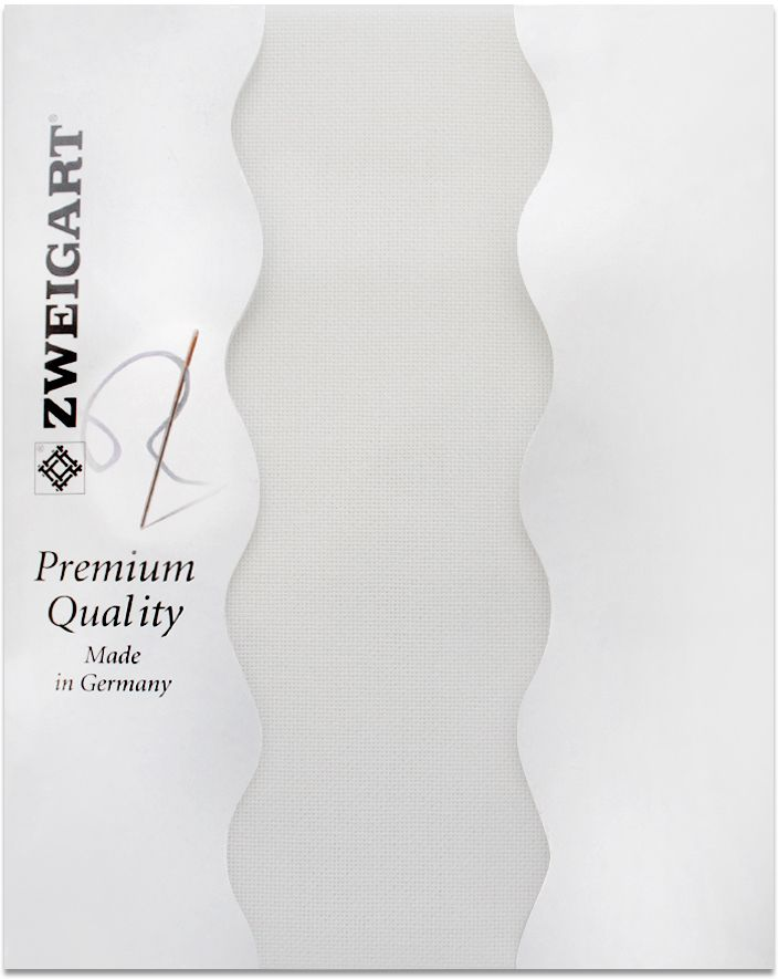"Канва для вышивания Zweigart ""Lugana 25"", цвет: белый, 50 х 70 см. 3835/100"