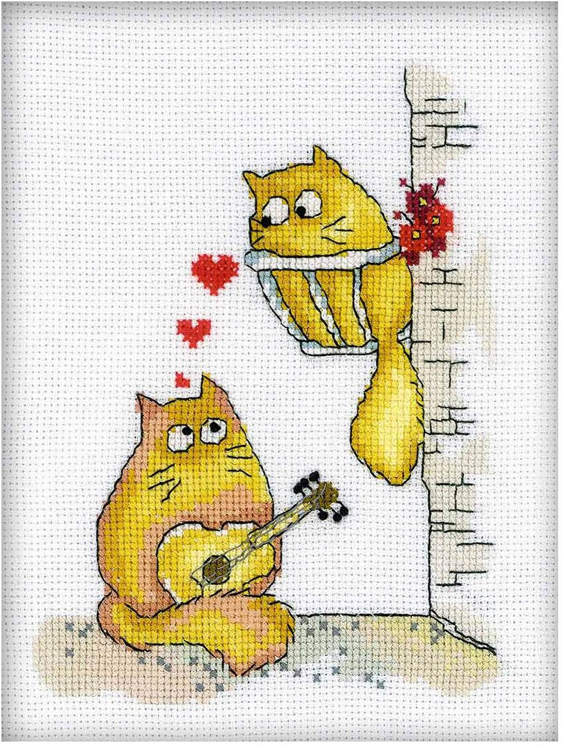 Набор для вышивания крестом РТО Мурмукание, 20 х 15 см набор для вышивания крестом рто 4 8 х 7 см fa015