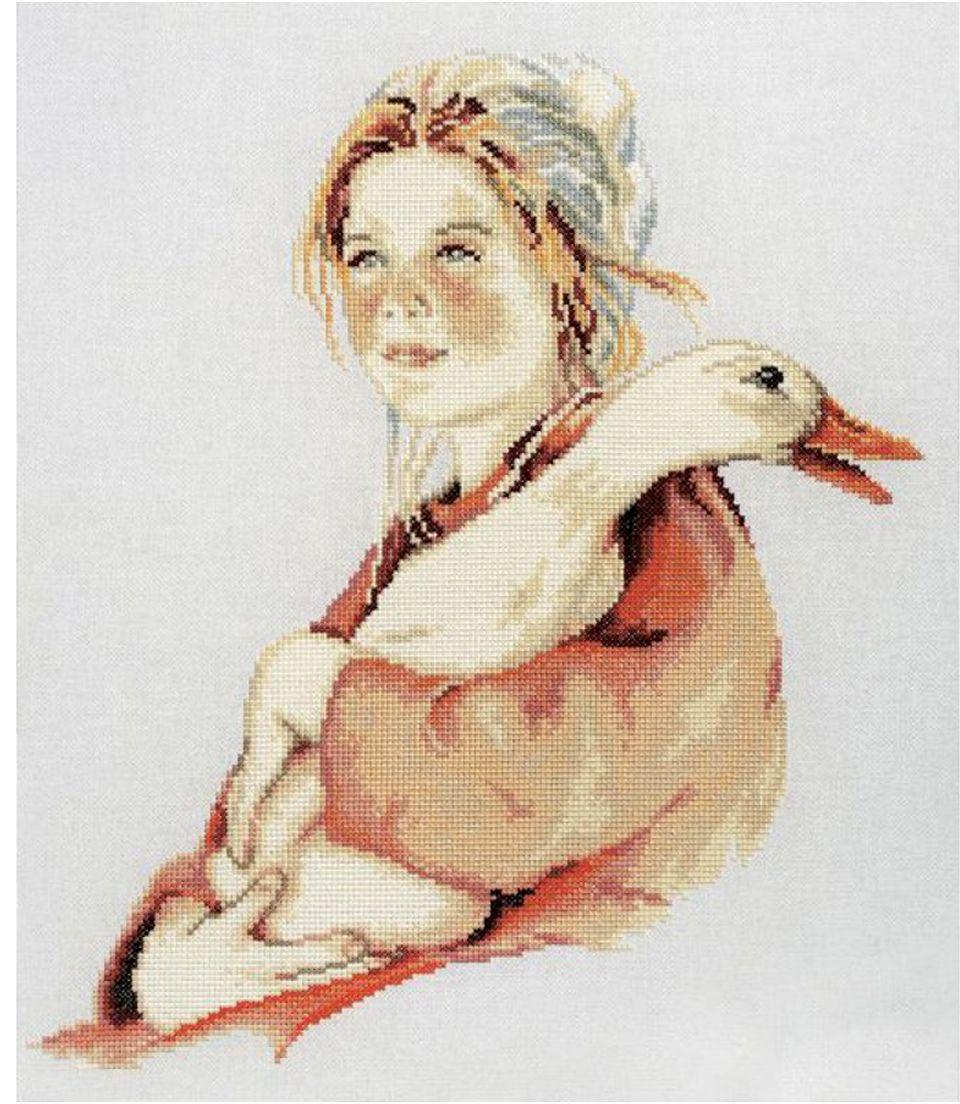 Набор для вышивания крестом РТО Веснушки, 30 х 34 см набор для вышивания крестом rto дом милый дом 34 х 27 см
