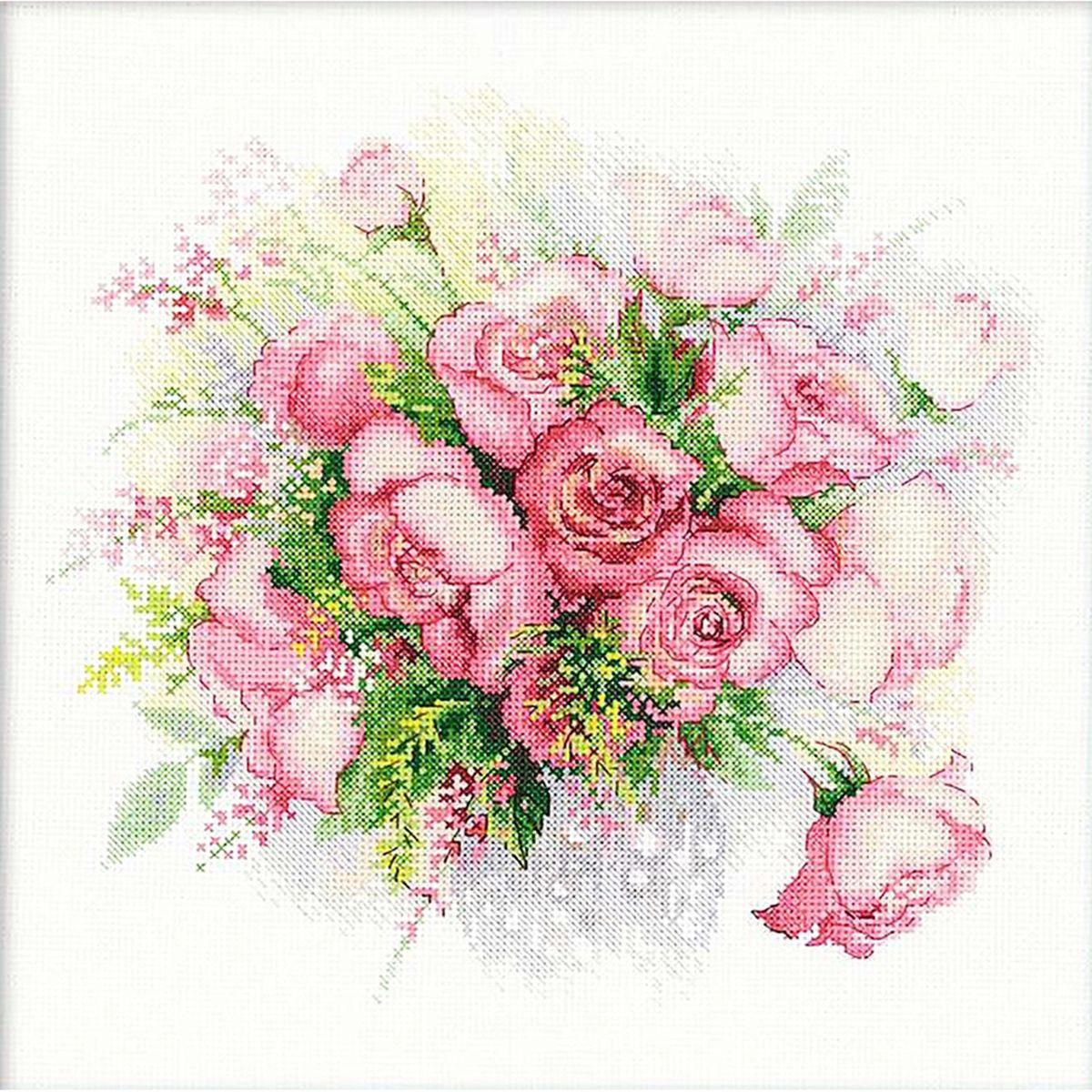 Набор для вышивания Riolis Акварельные розы, 30 х 30 см набор для вышивания крестом riolis акварельные герберы 30 x 30 см 1485