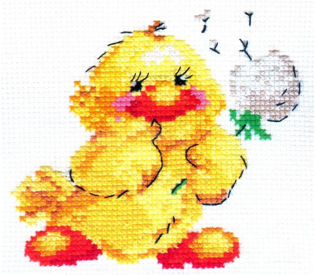 Набор для вышивания крестом Алиса Утенок, 11 х 10 см цена