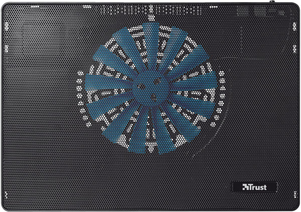 Trust Frio Laptop Cooling Stand, Black охлаждающая подставка для ноутбука стол подставка для ноутбука crown cmls 101 до 17 с вентилятором серебристая