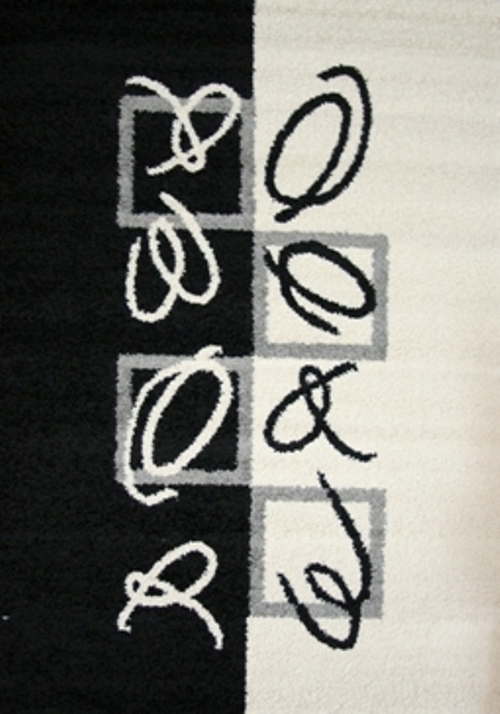 Ковер Oriental Weavers Транс, цвет: черный, серый, 80 х 140 см. 14675 ковер oriental weavers дaзл цвет зеленый 100 х 150 см 663 к