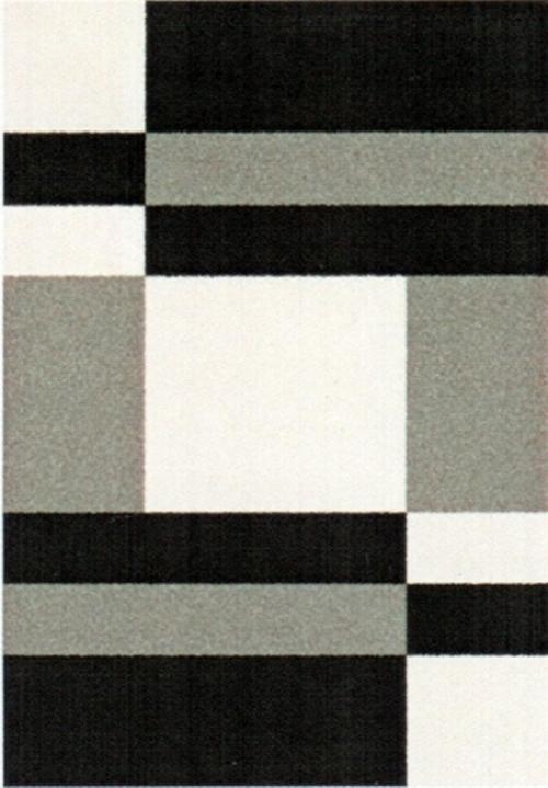 Ковер Oriental Weavers Транс, цвет: черный, серый, 80 х 140 см. 16743 ковер oriental weavers дaзл цвет зеленый 100 х 150 см 663 к