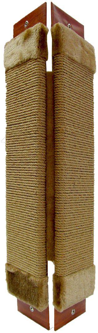 Когтеточка угловая Неженка джутовая, с кошачьей мятой, 68 х 30 см. 7126 когтеточка стойка molly coddle неженка лапа малая коврово джутовая 58 см