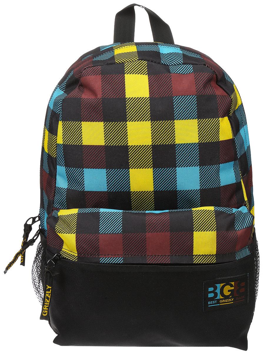 Рюкзак городской Grizzly, цвет: черный, желтый, коричневый, 16 л. RD-750-2/1 цена