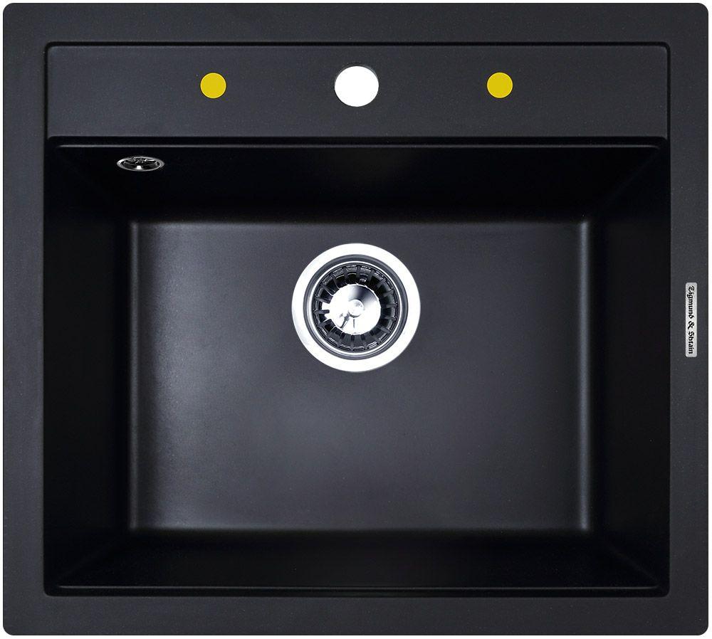 Мойка Zigmund & Shtain Platz 560, врезная, цвет: черный базальт, размер чаши 49,5 x 36 смplatz560PLATZ 560 является ещё одной удачной моделью квадратной гранитной мойки для кухни. Современный функциональный дизайн позволяет ей выглядеть стильно и уместно в интерьере любой кухни. Данная модификация создана для тех, кому необходимо получить не только презентабельный внешний вид, но и глубокую чашу для мытья посуды. Глубокая и вместительная чаша, уложенная в небольшие габариты, прекрасно подойдёт в пользование для небольшой семьи. Глубина раковины составляет 19.5 см, при общем размере мойки 560 х 505 мм - такие характеристики обеспечивают максимальный комфорт при эксплуатации мойки. Конструкция предусматривает удобный бортик сверху раковины, на котором легко поместятся моющие средства, губки или дозатор для моющих средств. Квадратная форма мойки отлично ляжет в разрез выбранной столешницы и удачно впишется в стиль кухни. Глубина чаши - 19,5 см Ширина шкафа - 60 см Сопротивление давлению - 16 кг/кв. см Крепёжная арматура - в комплекте Отверстие под смеситель - высверлено