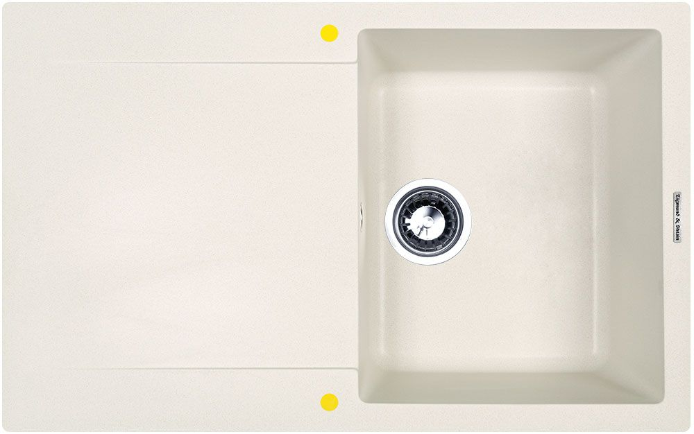 Мойка кухонная Zigmund & Shtain Rechteck 775, врезная, 1 чаша, крыло, цвет: индийская ваниль кухонная мойка zigmund