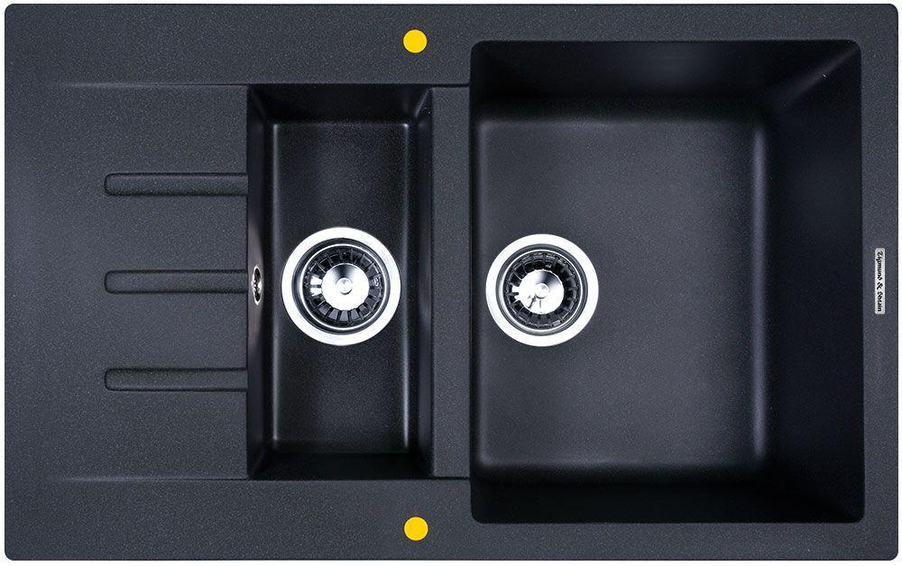 Мойка кухонная Zigmund & Shtain Rechteck 775.2 врезная 2 чаши крыло цвет темная скала кухонная мойка zigmund