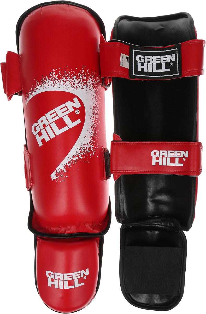 Защита голени и стопы Green Hill Guard, цвет: красный, белый. Размер S. SIG-0012 adidas защита голени pu shin guard