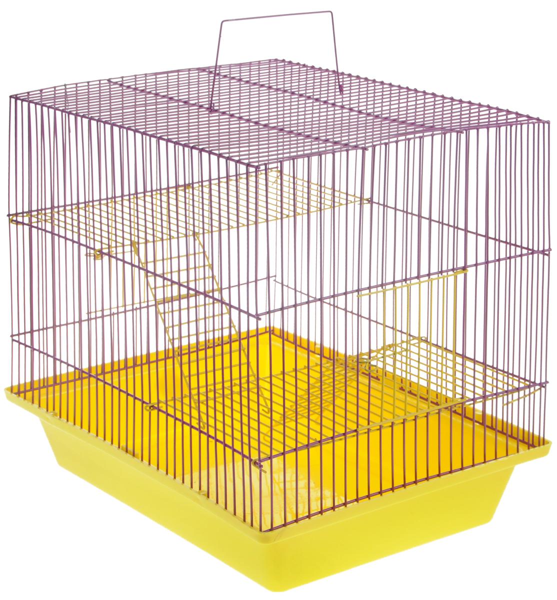 Клетка для грызунов ЗооМарк Гризли, 3-этажная, цвет: в ассортименте, 41 х 30 х 36 см. 230ж230жЖФКлетка ЗооМарк Гризли, выполненная из полипропилена и металла, подходит для мелких грызунов. Изделие трехэтажное. Клетка имеет яркий поддон, удобна в использовании и легко чистится. Сверху имеется ручка для переноски. Такая клетка станет уединенным личным пространством и уютным домиком для маленького грызуна. Уважаемые клиенты! Обращаем ваше внимание на цветовой ассортимент товара. Поставка осуществляется в зависимости от наличия на складе.