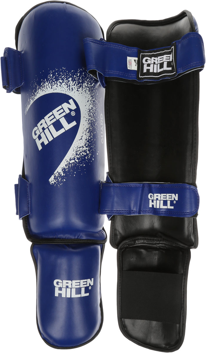Защита голени и стопы Green Hill Guard, цвет: синий, белый. Размер L. SIG-0012 adidas защита голени pu shin guard