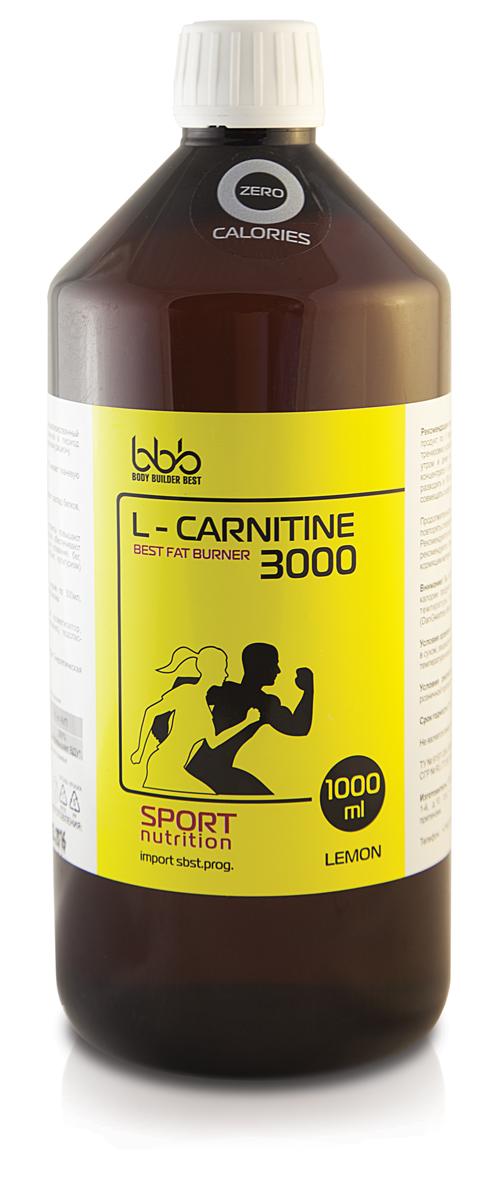 "Карнитин bbb ""L-Carnitine 3000"", лимон, 1 л"