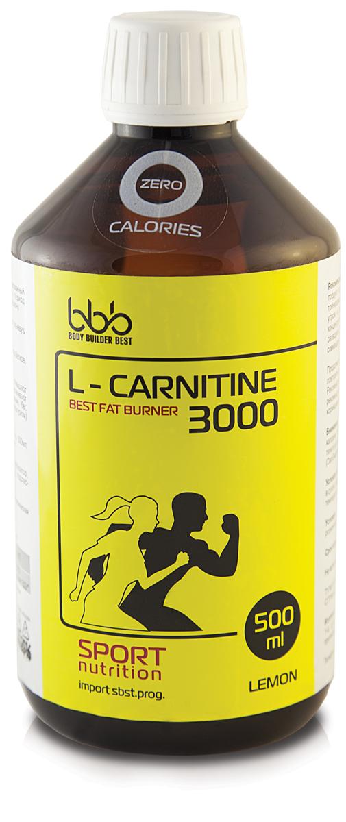 "Карнитин bbb ""L-Carnitine 3000"", лимон, 500 мл"
