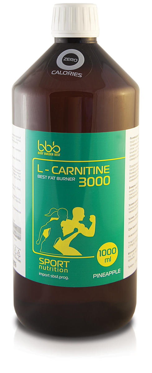"Карнитин bbb ""L-Carnitine 3000"", ананас, 1 л"