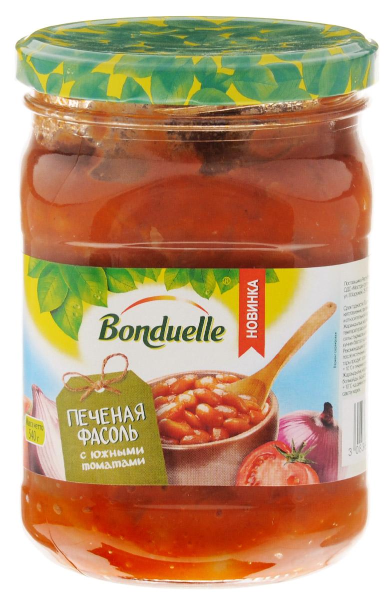 Bonduelle Печеная фасоль с южными томатами, 540 г фасоль bonduelle на пару зеленая тонкая