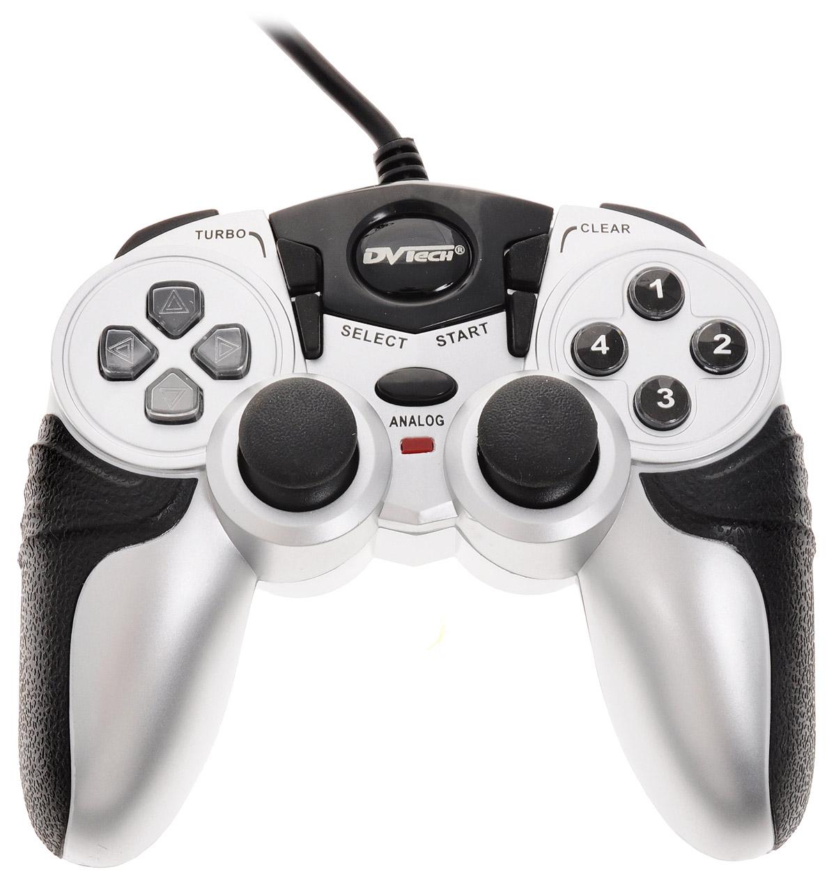 Игровой джойстик для PC/PS1/PS2 DVTech JS55 Shock Jet (черно-серый) dvtech js45 shock steel геймпад для pc