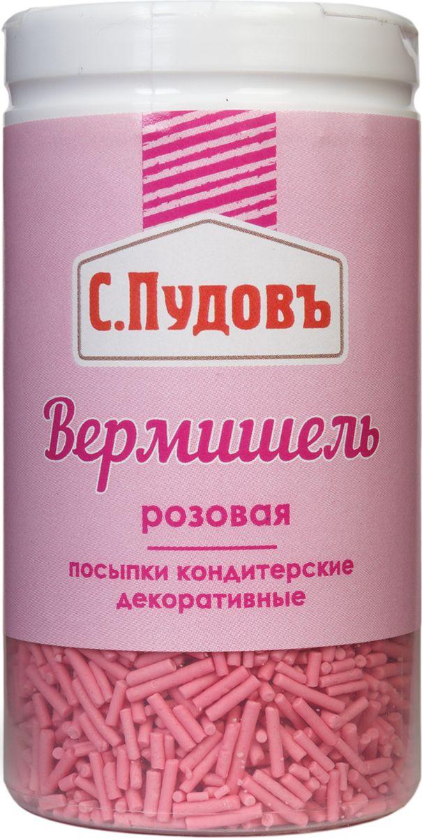 Пудовъ посыпки вермишель розовая, 40 г вермишель микс 1 яркий с пудовъ