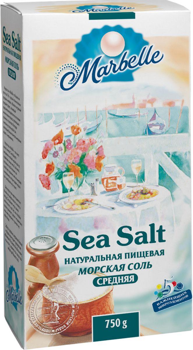 Marbellе морская соль средняя, 750 г цена