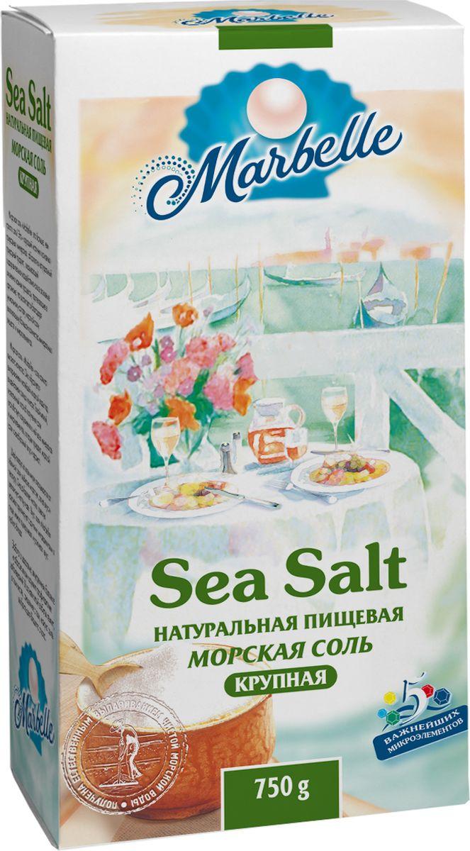 Marbellе морская соль крупная, 750 г цена