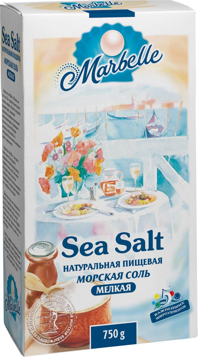 Marbellе морская соль мелкая, 750 г цена