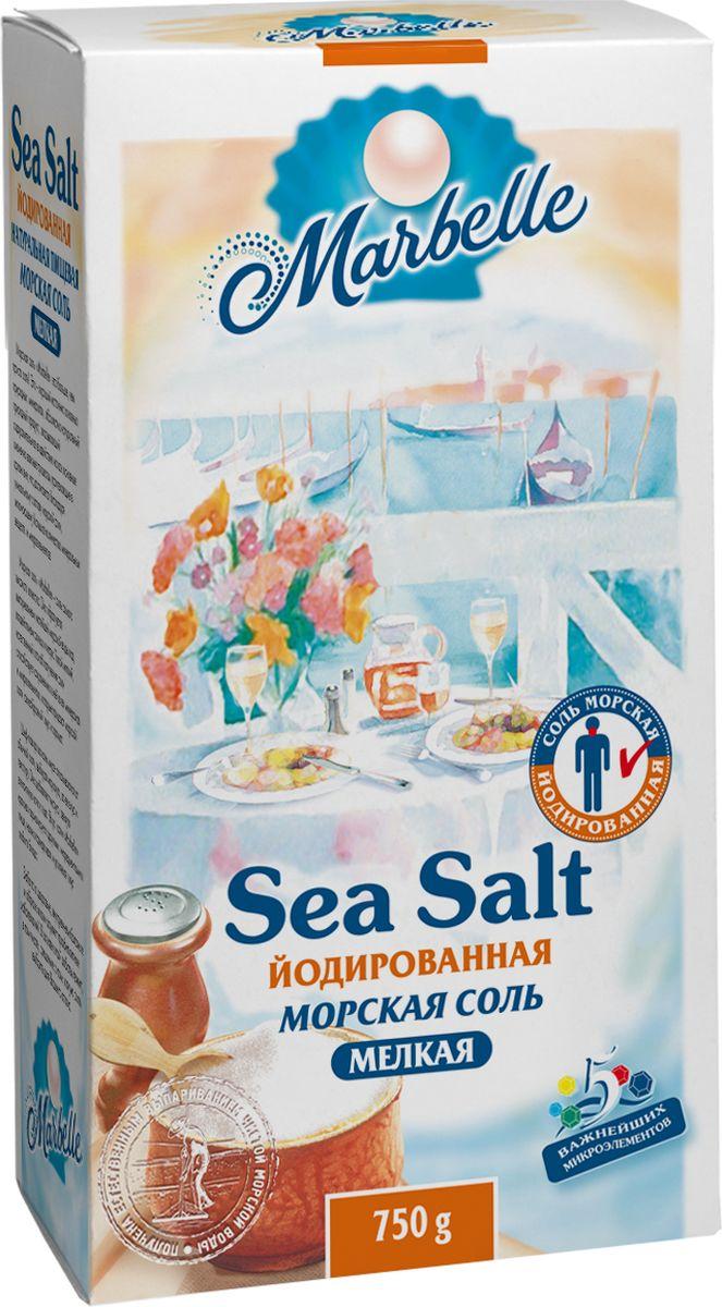 Marbellе морская соль йодированная мелкая, 750 г соль setra морская мелкая йодированная 500 г