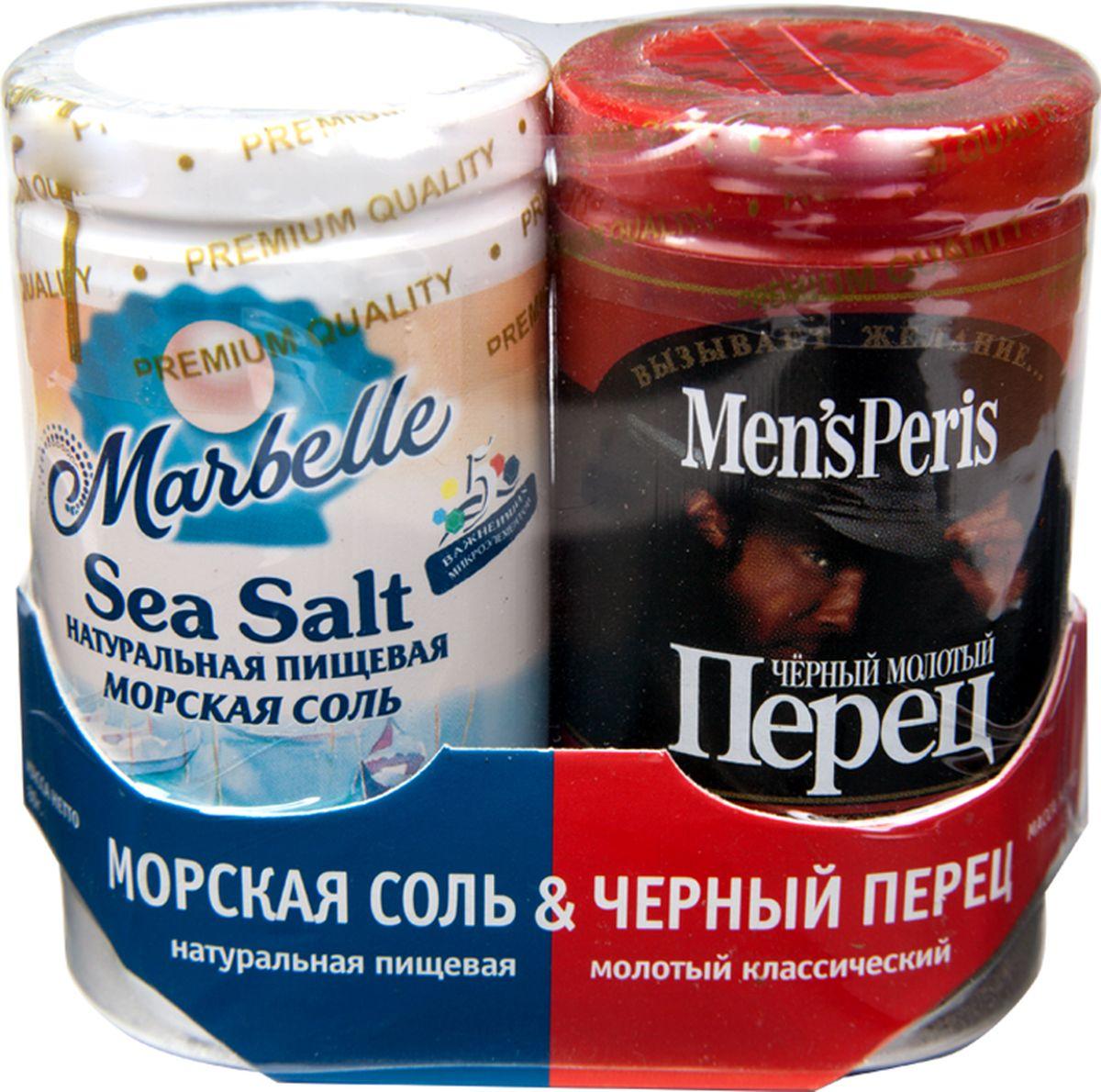 Marbellе набор соль морская и перец черный, 115 г цена