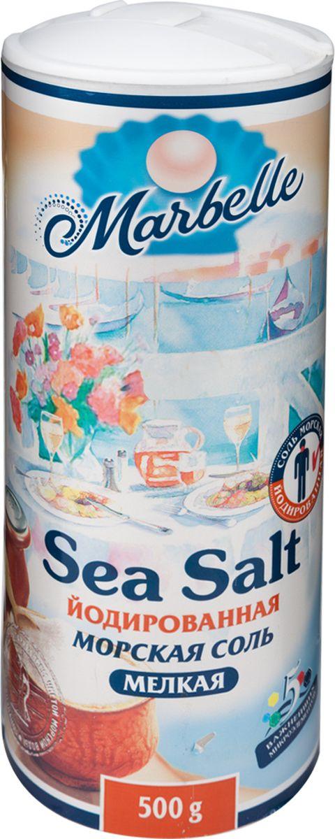 Marbellе морская соль йодированная мелкая, 500 г соль setra морская мелкая йодированная 500 г