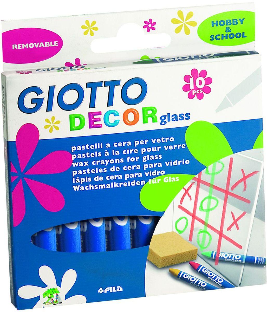 Giotto Набор восковых карандашей Decor Glass 10 шт