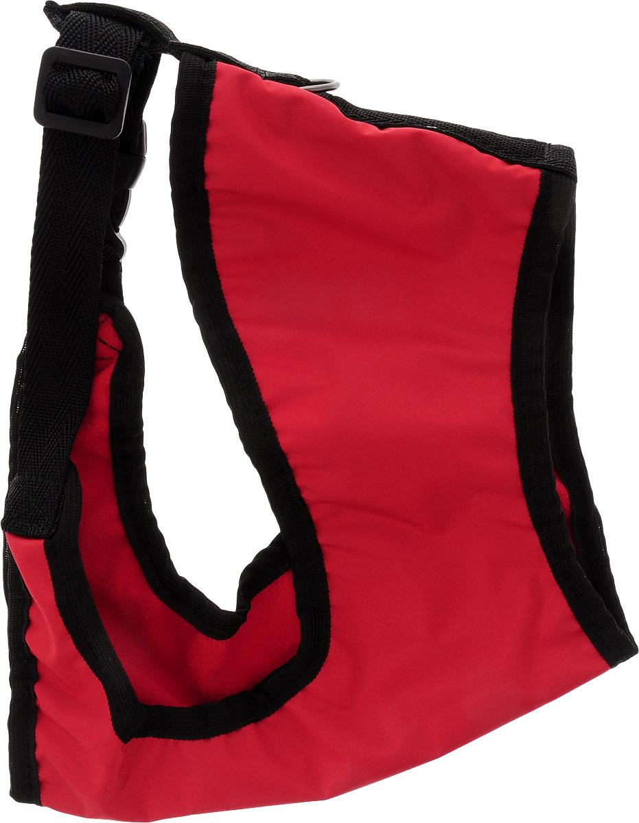 Шлейка для собак ЗооМарк, цвет: красный, черный. Размер 3 шлейка для собак зоомарк к9 1 обхват груди 51 67 см