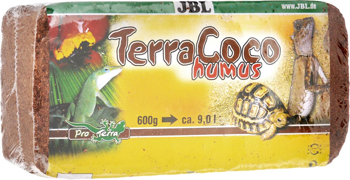 Перегной JBL TerraCoco Humus, кокосовый, брикет, 650 г буковая щепа jbl натуральный донный субстрат terrawood для сухих и полусухих террариумов 20л