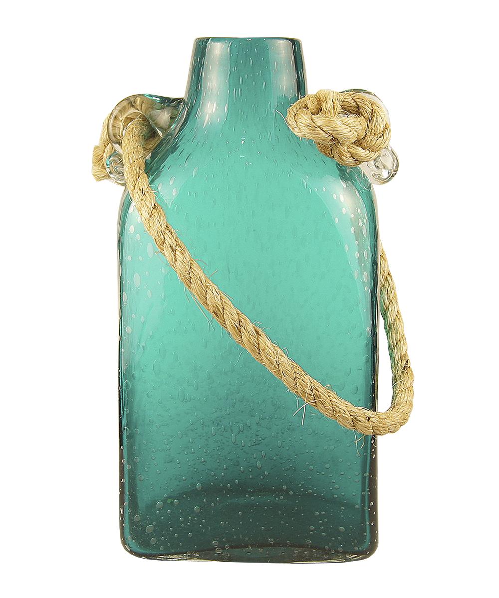 """Ваза Этажерка """"Berber"""", с ручкой, цвет: бирюзовый, высота 33 см"""