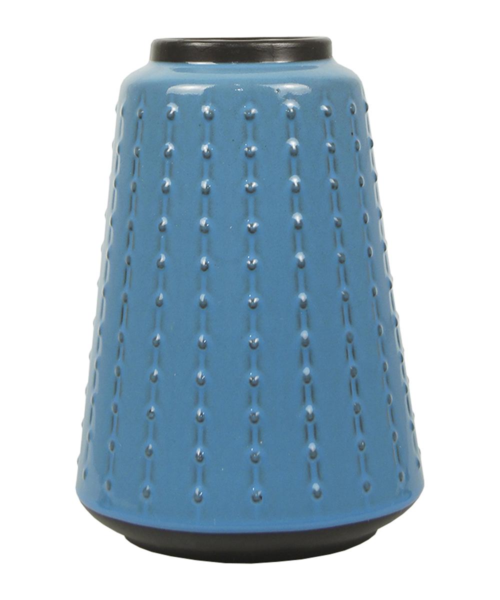 Ваза Этажерка Aquarelle, цвет: голубой, черный, высота 27 см gianni versace versace pour homme