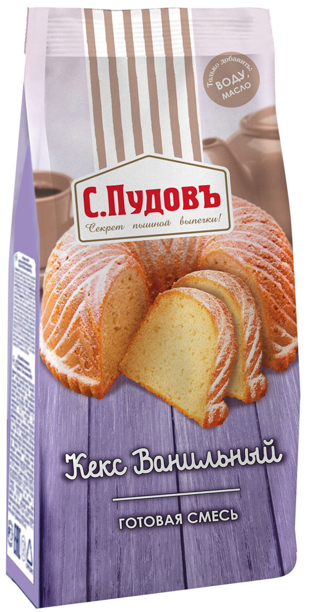 Пудовъ кекс ванильный, 400 г цены