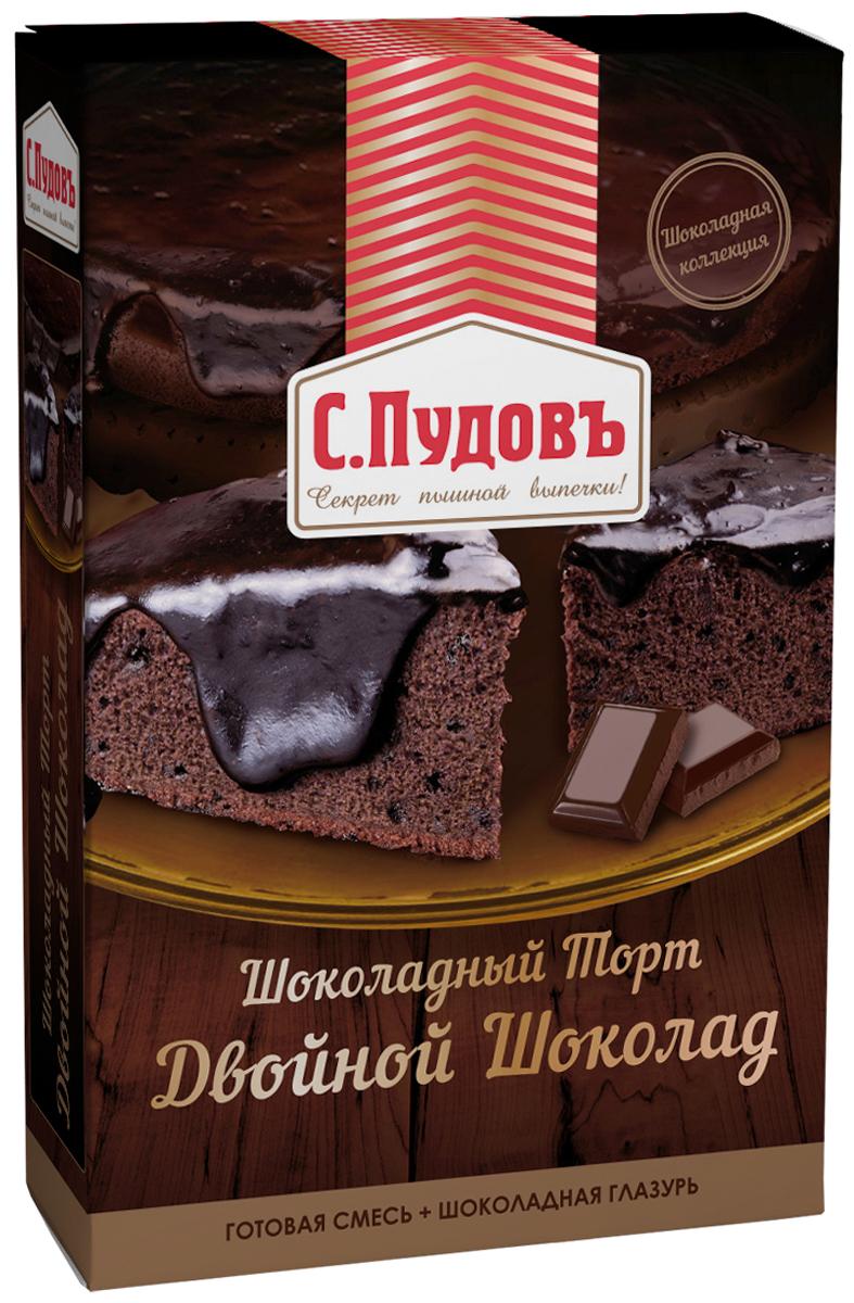 Пудовъ шоколадный торт двойной шоколад, 490 г пудовъ торт брауни 350 г