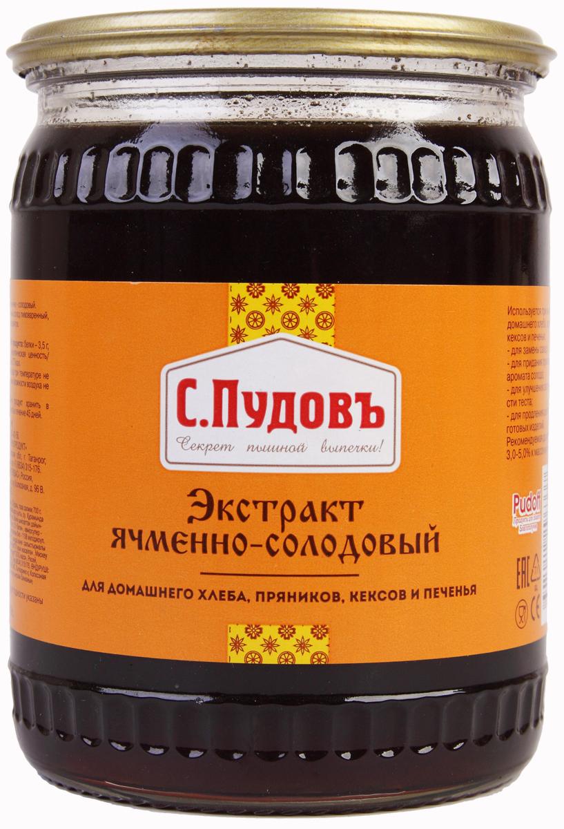 Пудовъ экстракт ячменно-солодовый, 700 г С.Пудовъ