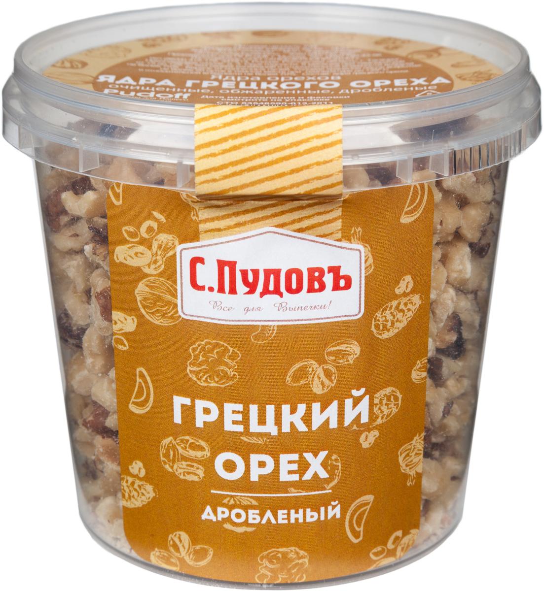 Пудовъ грецкий орех дробленый, 180 г грецкий орех господин орехов 180 г