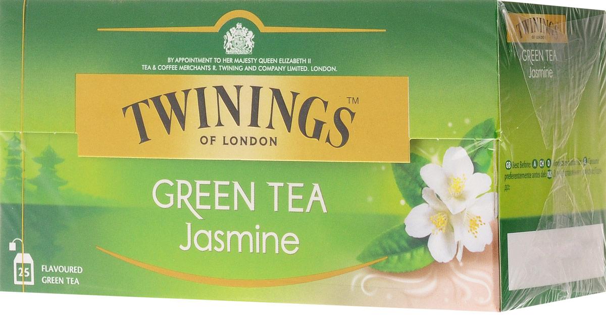 Twinings Green Tea & Jasmine зелёный чай с цветами жасмина в пакетиках, 25 шт цена 2017