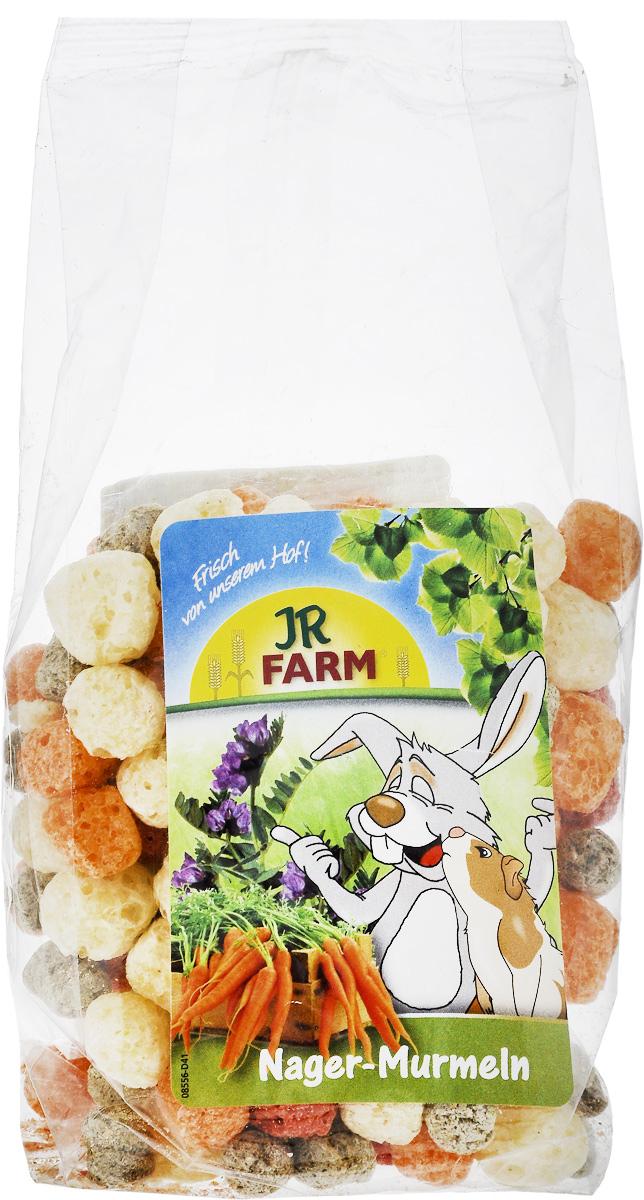 Лакомство для грызунов JR Farm Шарики из овощей и люцерны, 70 г корм для грызунов padovan колечки люцерна для кроликов 150 г