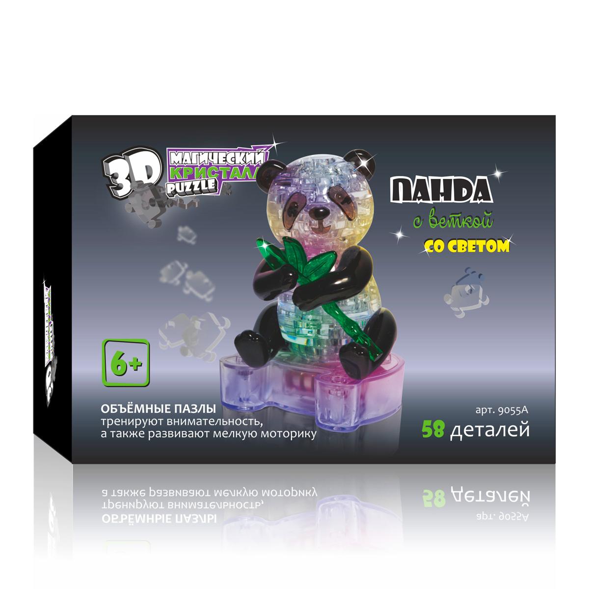 3D Пазл 3D Puzzle Магический Кристалл 9-58-0072629-58-007262Развивающая головоломки нового поколения - объемные пазлы. ПАНДА - исчезающий вид. По-китайски его имя означает «медведь-кошка». Символ дружбы и дружелюбия. Объемные пазлы 3D puzzle Магический Кристалл подойдут как детям, так и взрослым. Вы получите не только массу удовольствия, собирая кристаллические фигуры, но и проведете время с пользой: объемные пазлы развивают мелкую моторику рук, а также тренируют внимательность. Панда с веткой самая популярная модель среди наших покупателей!