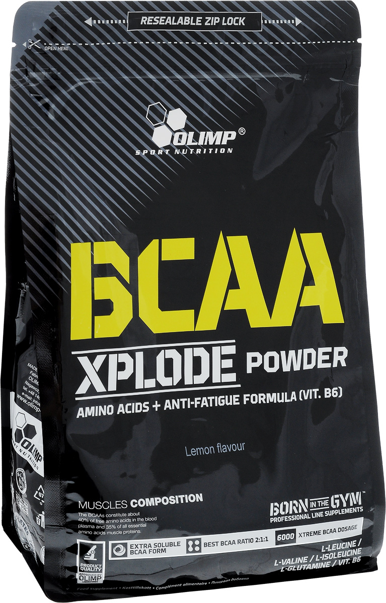 Комплекс аминокислотный Olimp Sport Nutrition BCAA Xplode Powder, лимон, 1 кг напиток изотонический olimp iso plus powder лимон 700г