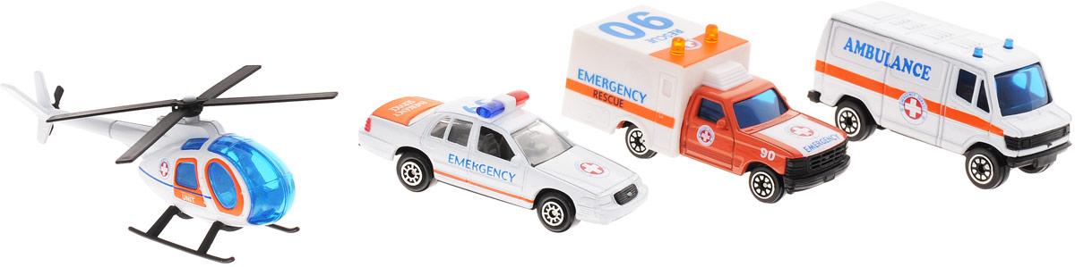 Welly Игровой набор Служба спасения Скорая помощь 4 предмета набор машинок siku скорая помощь