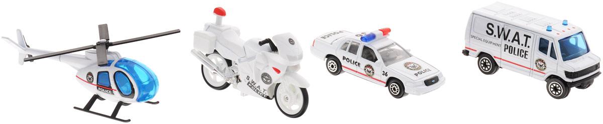 Welly Игровой набор Служба спасения: Полиция, 4 предмета набор машинок siku пожарная служба 1818rus