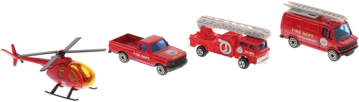 Welly Игровой набор Служба спасения: Пожарная команда, 4 предмета welly набор машинок пожарная служба 3 шт