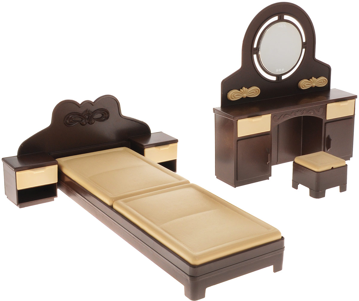 Огонек Набор мебели для кукол Спальня Коллекция огонек набор мебели для кукол коллекция для столовой