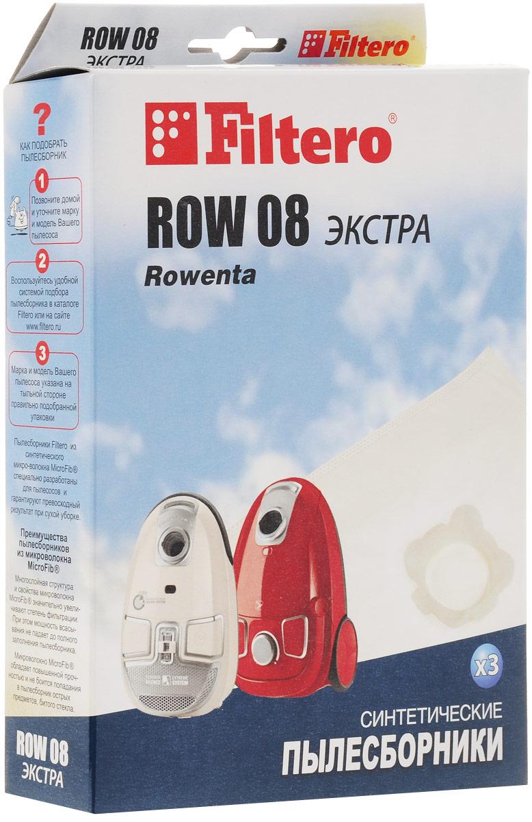 Filtero ROW 08 Экстра мешок-пылесборник 3 шт filtero row 07 экстра мешок пылесборник для rowenta 4 шт