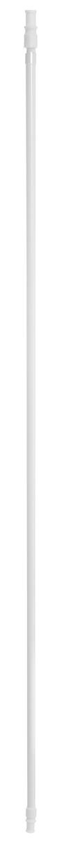 Карниз однорядный Эскар Калифорния, телескопический, цвет: белый, диаметр 12 мм, длина 85-135 см карниз шинный потолочный эскар однорядный с аксессуарами цвет белый длина 150 см