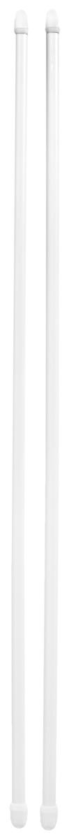 Штанга однорядная Эскар, телескопическая, цвет: белый, длина 60-90 см, 2 шт закругление для потолочной шины эскар наружное двухрядное 90 градусов