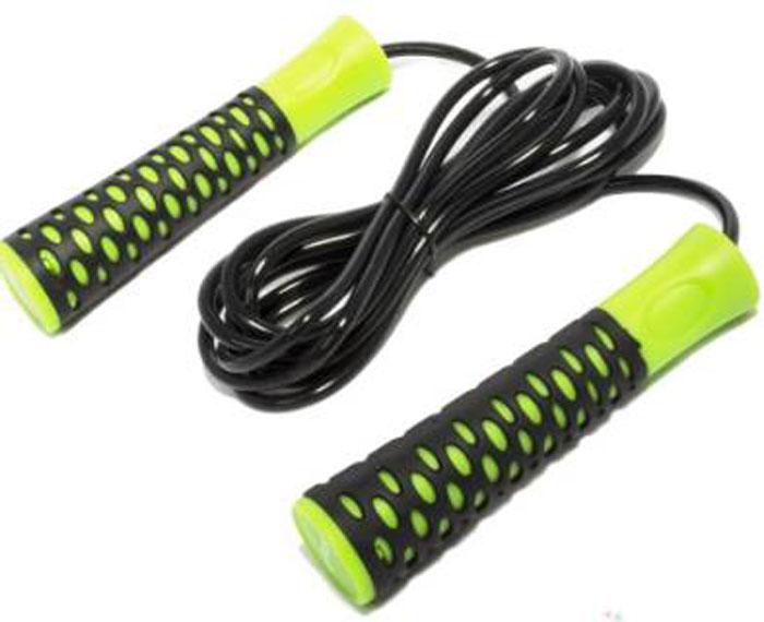 Фото - Скакалка Starfit RP-103, цвет: зеленый, черный, длина 3,05 м скакалка starfit rp 104 с подшипниками цвет синий черный длина 3 05 м
